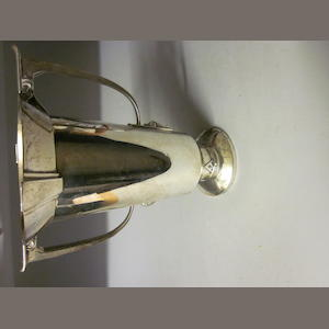 An Art Deco twin-handled trophy cup