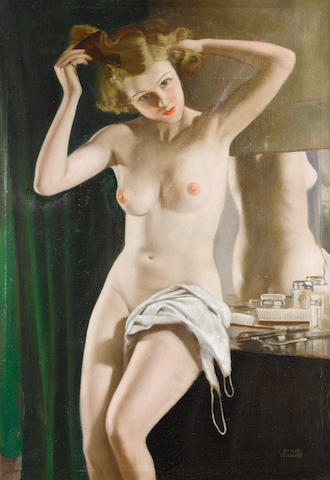 Serge Ivanoff (Russian, 1893-1983) La toilette