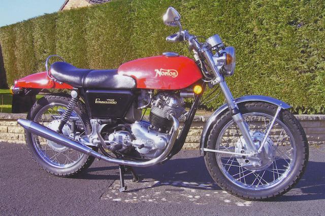 1972 Norton 745cc Commando Frame no. 144427 Engine no. 20M3S/144427