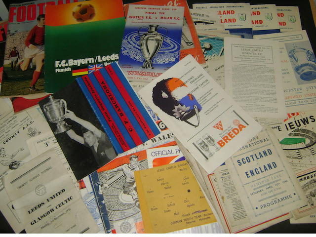 A collection of programmes 1940's to 1970's including F.A. Cup finals