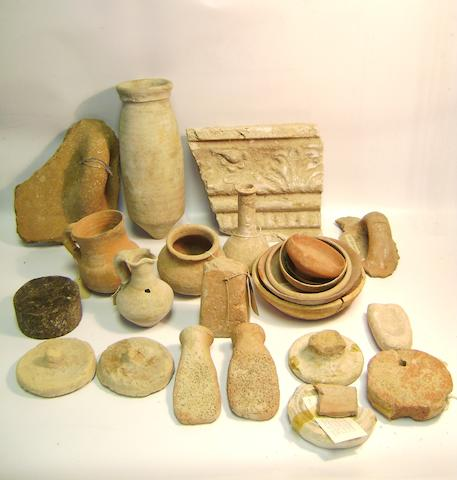 A miscellaneous group of antiquities a lot