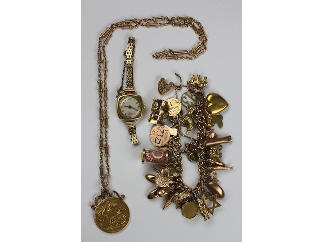 A quantity of gold jewellery,