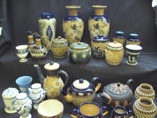 A collection of Doulton Lambeth wares