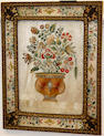 A pair of early 18th century style needlework pictures