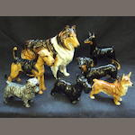 Seven Royal Doulton dogs