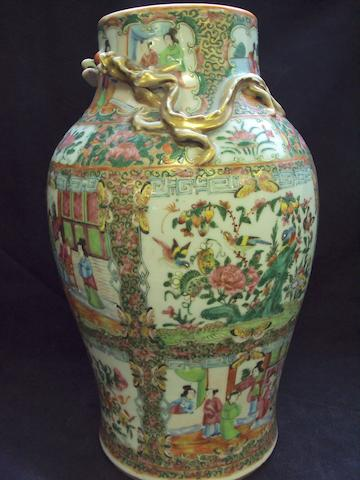 A Chinese Canton famille rose vase