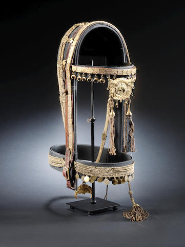 An Ottoman gilt Bridle, Breast-plate and Crupper taken from the residential quarters of Tipu Sultan (1750-99), Sultan of Mysore (Seringapatam) Turkey, Mid to late-18th Century(3)