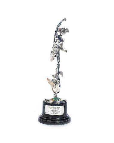 A 1st place 1967 Isle of Man TT Silver Replica trophy,
