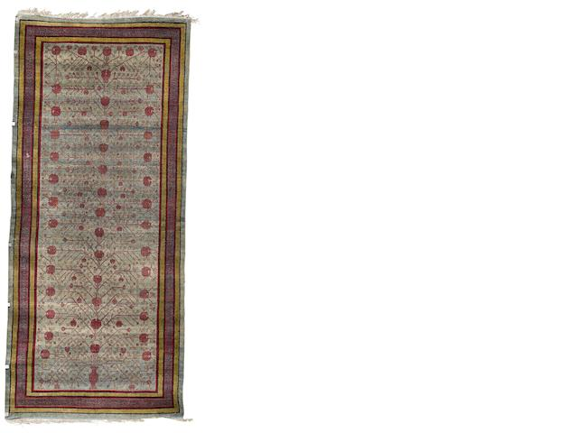 A silk Yarkand long rug