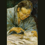 Mortimer Luddington Menpes (British, 1855-1938) The carver