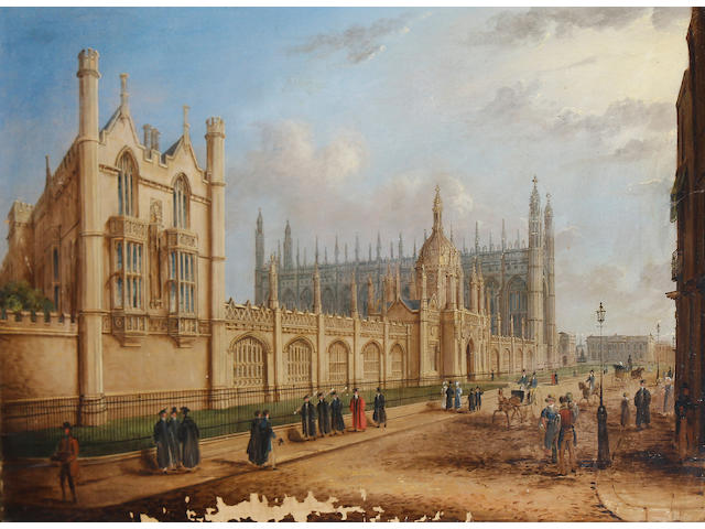Richard Bankes Harraden (British, 1778-1862) The Provost's Lodge, Kings College, Cambridge; View of Kings College, Cambridge each 43 x 65.5cm (16 15/16 x 25 13/16in).(2)