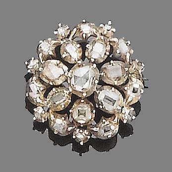 An early 19th century diamond brooch