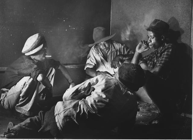 Jürgen Schadeberg (South African/ German, born 1931) Gamblers in a smoky corner in Sophiatown, 1955