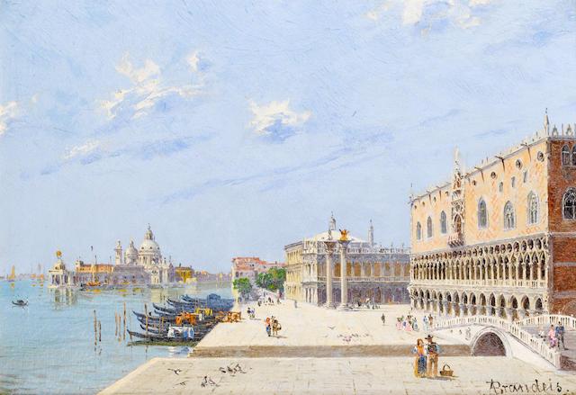 Antonietta Brandeis (Czechoslovakian, 1849-1910) La Piazzetta; Palazzo Ducale, Venezia