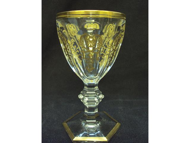 "A large collection of Baccarat ""Empire"" pattern glassware"