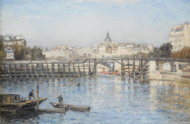 S. Lepine - Pont de Estacade, Paris, o/c, 14 x 21 ins