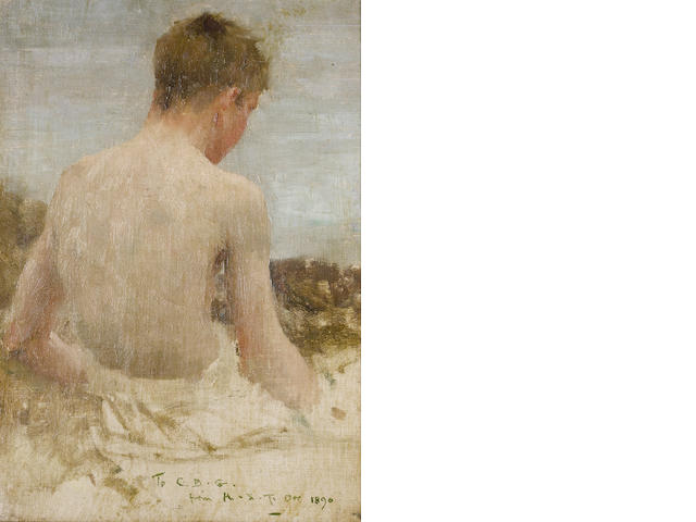 Henry Scott Tuke, RA, RWS (British, 1858-1929) Back of a boy bather