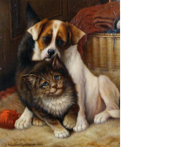 Valentine Thomas Garland (British, fl.1884-1903) A doubtful friendship