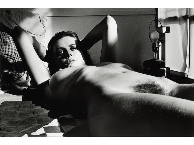Helmut Newton (German, 1920-2004) Fiona Lewis, Nude Lying, Los Angeles, 1976