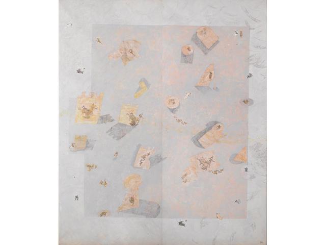 Erol Akyavas (1932-1999) End of Encounter, each panel 270 x 110cm (106 5/16 x 43 5/16in); entire work 270 x 220cm (106 5/16 x 86 5/8in).