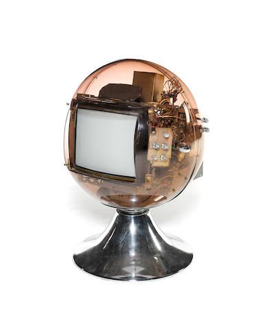 A rare Zarach sphere colour television
