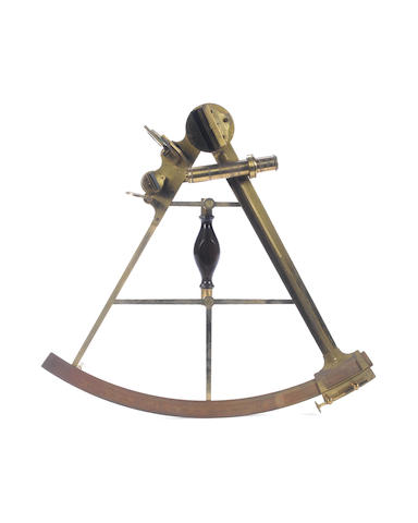 Ramsden no 46 : A brass sextant in mahogany box - Please confirm price with client before cataloguing.