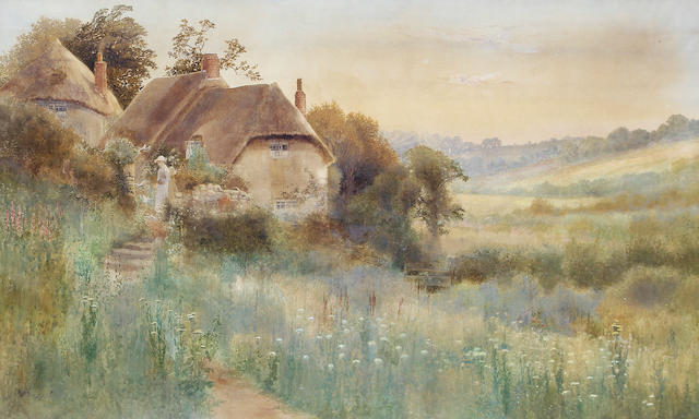 Arthur Stanley Wilkinson (British, circa 1860-circa 1930) Country cottages