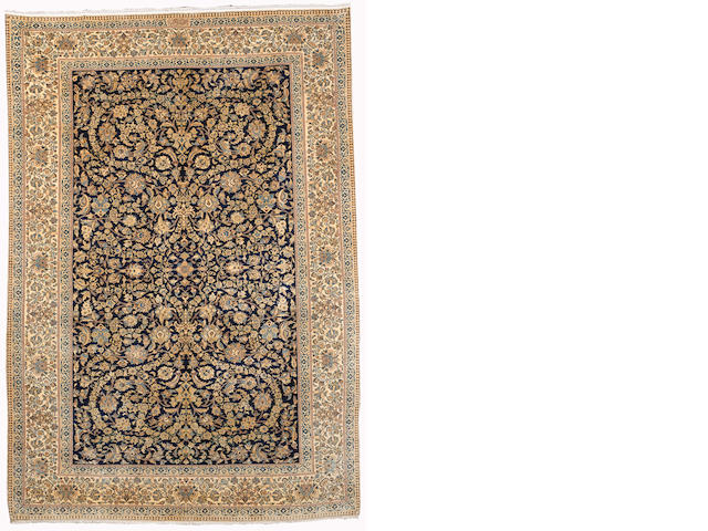 A Nain Habibian rug, Central Persia, circa 1960, 254cm x 174cm (8 ft 4 in x 5 ft 9 in)signed, excellent condition