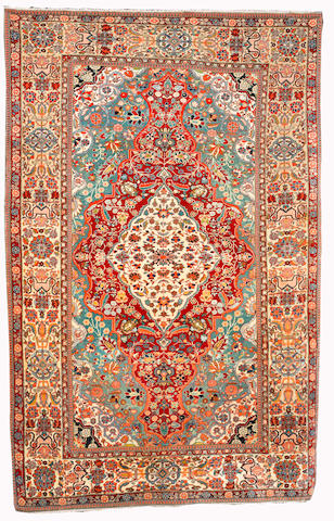 A Mohtashem Kashan rug, Central Persia, circa 1890, 208cm x 135cm (6ft 10in x 4ft 5in) excellent condition, minor freying to selvege on each side