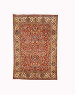 A Tudesh Nain rug, Central Persia, circa 1940, 203cm x 140cm (6ft 8in x 4ft 7in) excellent condition