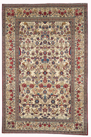 A Tehran rug, Central Persia, circa 1920, 208cm x 138cm (6ft 10in x 4ft 6in) excellent condition