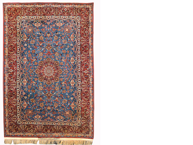 An Isfahan Serafian rug, Central Persia, circa 1940, 223cm x 145cm (7ft 4in x 4ft 10in) excellent condition throughout
