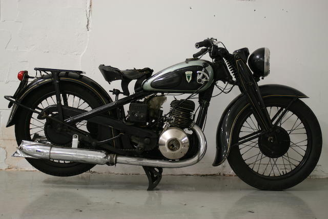 1938 DKW SB500 Frame no. 431078 Engine no. 517370