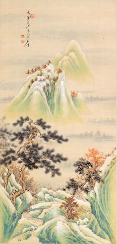 Zhang Daqian (1899-1983) Gold and Green Landscape