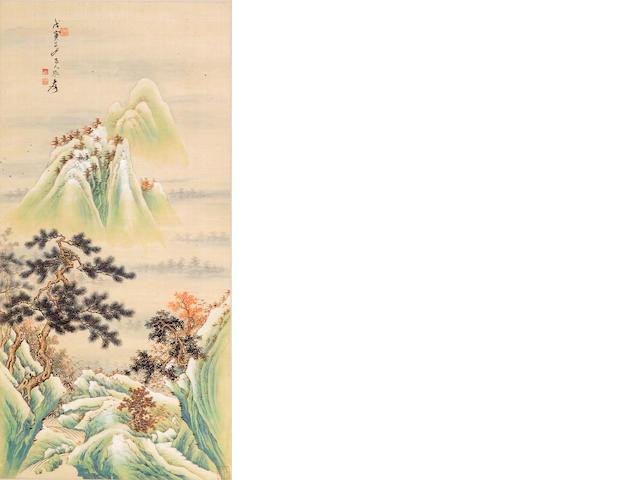 Zhang Daqian (1899-1983) Gold and Green Landscape