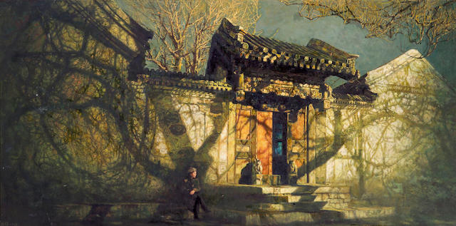 Wang Lu (b.1936) The Evening Glow of the Ancient Capital