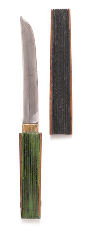 A short tanto (dagger) fan Late 19th century