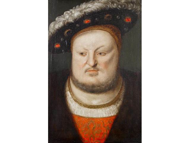 Studio of Cornelis Massys (Antwerp 1510-circa 1556), circa 1548 Portrait of Henry VIII, bust-length,