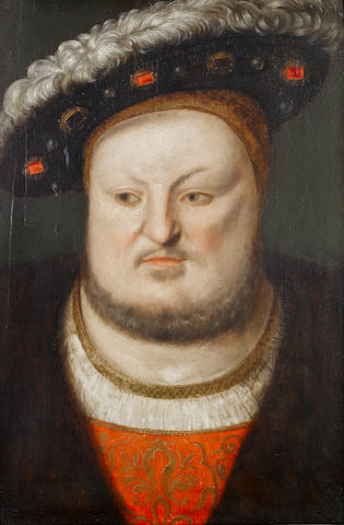 Anglo-Netherlandish School, circa 1548 Portrait of King Henry VIII (1491-1547), bust-length,