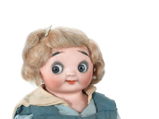 Rare Heubach Einko bisque shoulder head doll lot