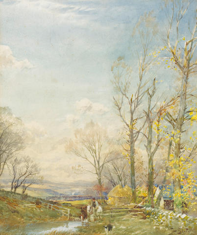 Tom Scott, RSA (British, 1859-1927), Selkirk, watercolour