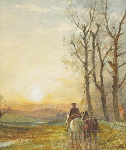 Tom Scott, RSA (British, 1859-1927), Scottish landscape, watercolour