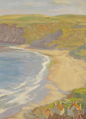 Charles Oppenheimer, RSA RSW (British, 1876-1961), Runswick Bay, oil