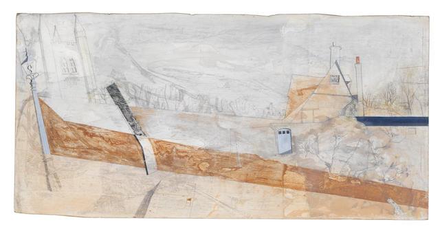 Bryan Ingham (British, 1936-1997) Landscape 39 x 78 cm. (15 14 x 30 3/4 in.)