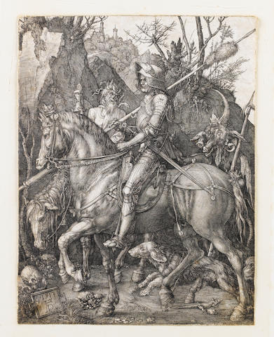 Albrecht Dürer (German, 1471-1528) The Kight, death and the devil' Engraving