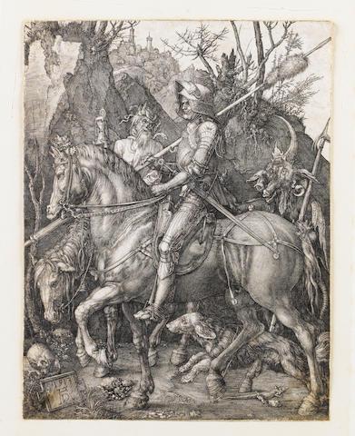 Albrecht Dürer (German, 1471-1528) The Kight, death and the devil' Engraving