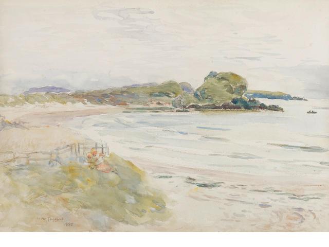 William McTaggart, RSA RSW (Scottish, 1835-1910) Children on the shore