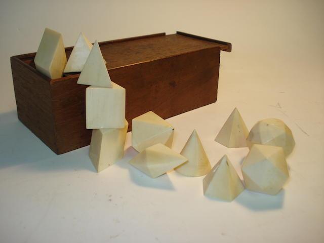A set of ivory geometry models