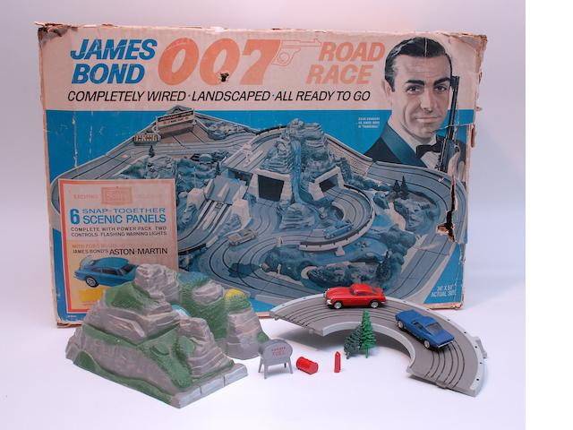 A James Bond 007 slotcar set by Sears,