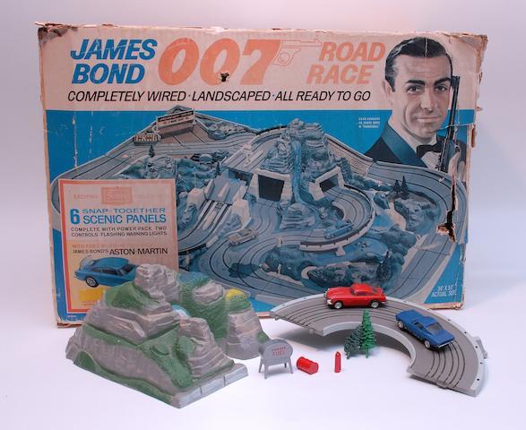 A James Bond 007 slotcar set by Sears,